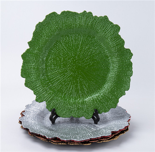 Green Reef Plastic Plate Charger For Wedding Dinner