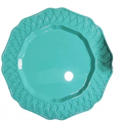 Cheap Wholesale Plastic Green Gold Charger Plates For Wedding And Event