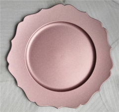 China Supplier Pink Charger Plates Plastic Wholesale For Wedding