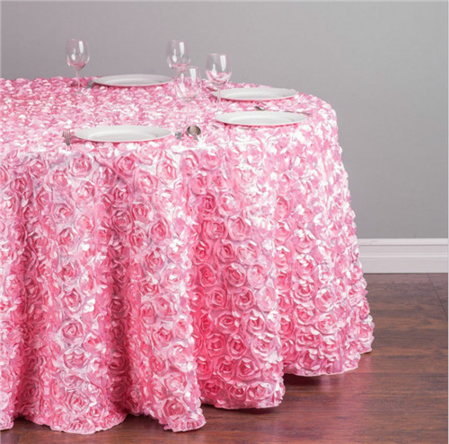 High Quality Wedding Decoration Modern Rose Table Cloth