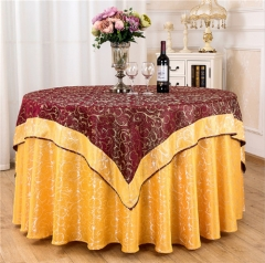 Wholesale Luxury Wedding And Hotel Double Round Table Cloth