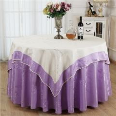 Luxury Embroidery Wedding Table Cloth For Restaurant