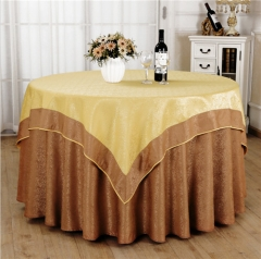 Double Layer Round Table Cover Polyester For Wedding Event