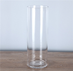 Transparent wedding decoration Tall Cylinder Clear Glass Vases