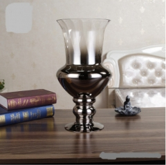 Wholesale Wedding Silver Plated Hurricane Vase For Table Decoration
