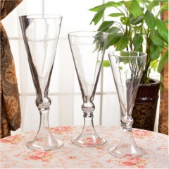 Glass Trumpet Vases Wedding Party Centerpieces