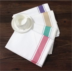 Fancy Polyester Plain Dyed White Blush Pink Table Napkins