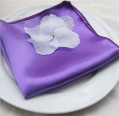 Luxury 100% Purple Polyester Dining Table Napkins