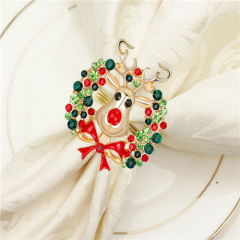 Wholesale Temperament Boutonniere Reindeer Napkin Ring For Christmas