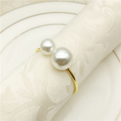 Elegant Pearl Ring For Wedding Party Event Decoration