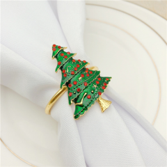 Christmas Tree Boutonniere Napkin Ring Series Wholesale