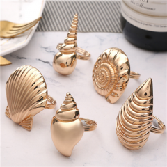 Sea Shell Napkin Rings for Wedding Table Decoration