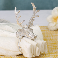 Gold Silver Metal Napkin Ring For Christmas Decorative
