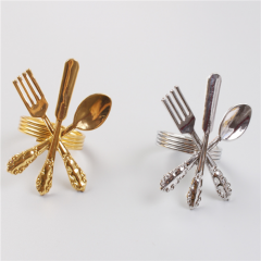 Decorative Silver & Gold Colored Cutlery Napkin Ring Wholesale